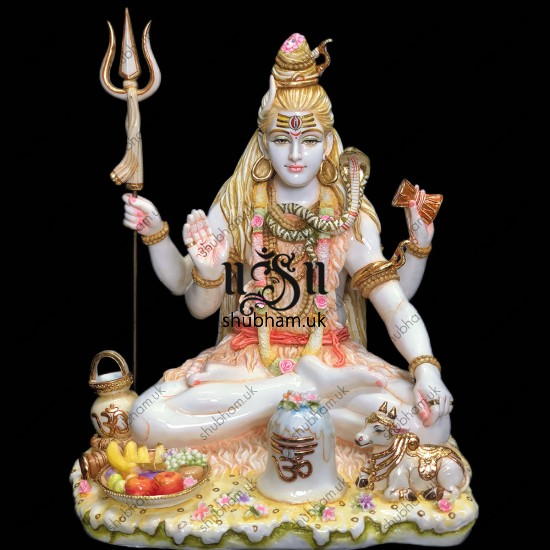 Magnificently Carved Lord Shiva Statue - 21 inch