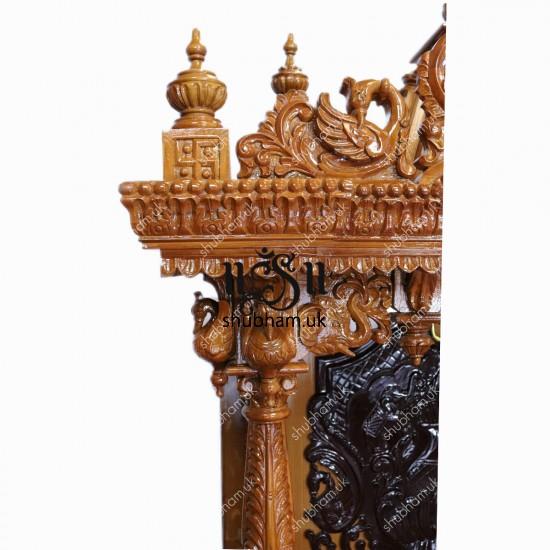 Designer Teak Wooden Carved Temple