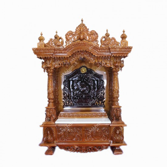 Designer Teak Wooden Carved Temple
