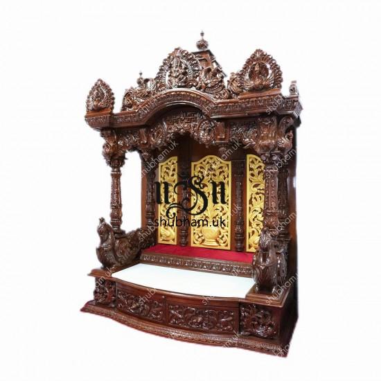 Exquisite Wooden Mandir Temple UK