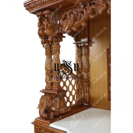 Engraved Beautifully Teak Wood Temple