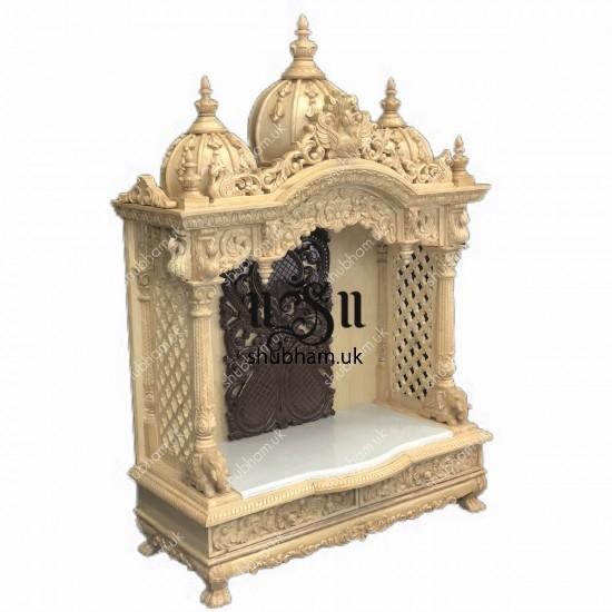 Sevan Wood Pooja Mandir Temple for Home
