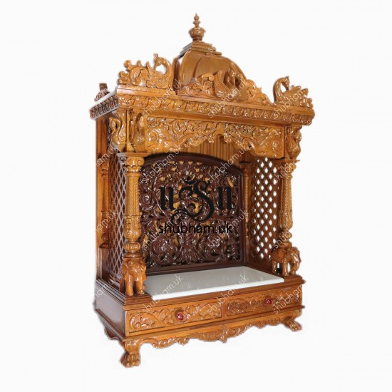 Buy Teak Wood Hand Carved Temple