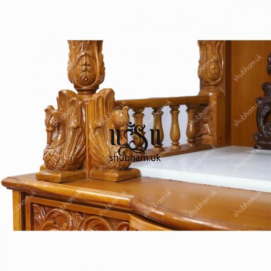 Teak Wood Carved Mandir UK