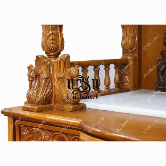 Teak Wood Carved Mandir UK