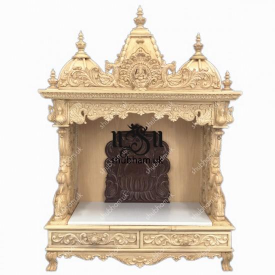 Beautiful Hindu Sevan Wood Temple Peacock Design UK