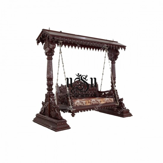 Big Wooden Swing Jhula for UK Home