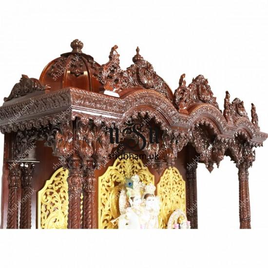 Magnificent Teakwood Pooja Mandir