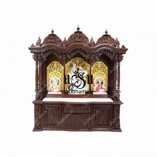 Magnificent Teakwood Pooja Mandir