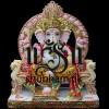 Extremely Beautiful Ganesha God Ganapati White Marble Moorti Statue