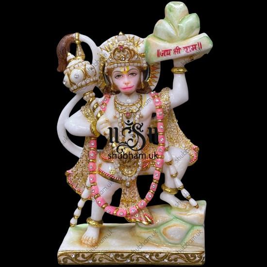 Buy Elegant Hanuman Ji Marble Murti Idol for your home Temple