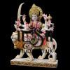 Embellished look Handcarved Marble Durga Maa Statue Idol UK