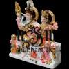 Elegant Shiv Parivar Marble Statue in White Makrana marble 12 inch