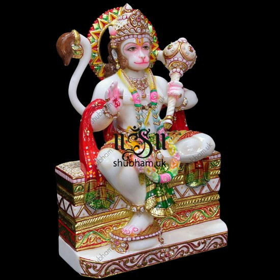 Our Signature Design Lord Hanuman Ji marble murti Idol for home
