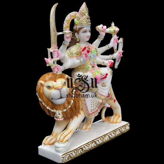 Buy Beautiful Indian Goddess Marble Durga Maa Statue  for your home temple in the UK