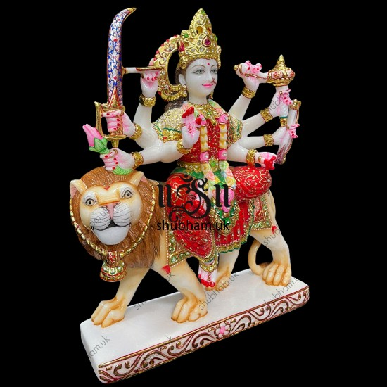 Superior Quality Durga Mata Marble Moorti Statue for home UK
