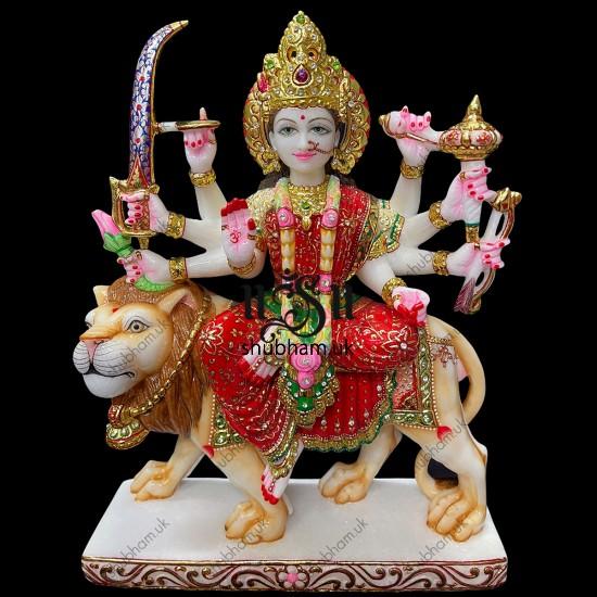 Superior Quality Durga Mata Marble Moorti Statue for home UK