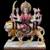 Marble Godess Durga Maa Statue Murti in white Decorative Saree in the UK - 11 inch