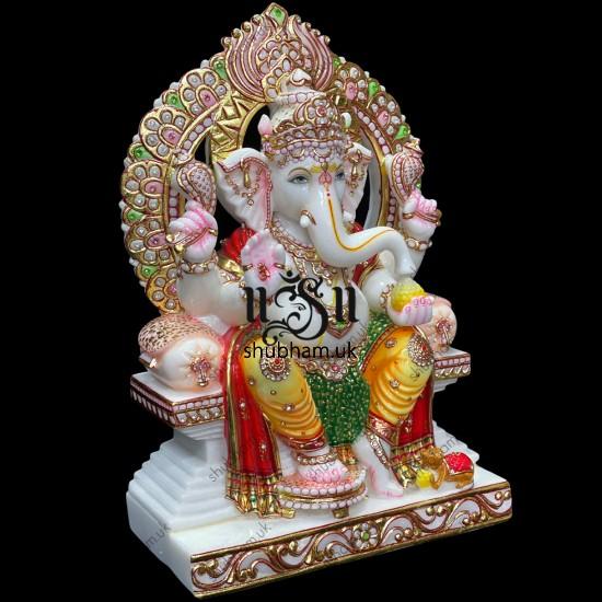 Buy Hindu God Lord Ganesh Elegant Marble Statue Murti