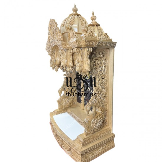 Beautifully Hand Carved Wooden Temple for home