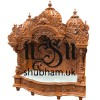 Intricate Hand Carved Wooden Temple for home