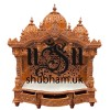 Exclusive designer Hand crafted Teak Wood Mandir for Home
