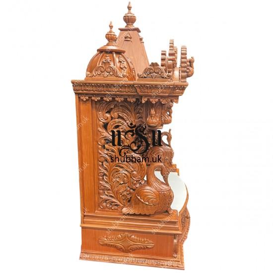 Elegant Crafted Teak wood Temple Puja Mandir UK