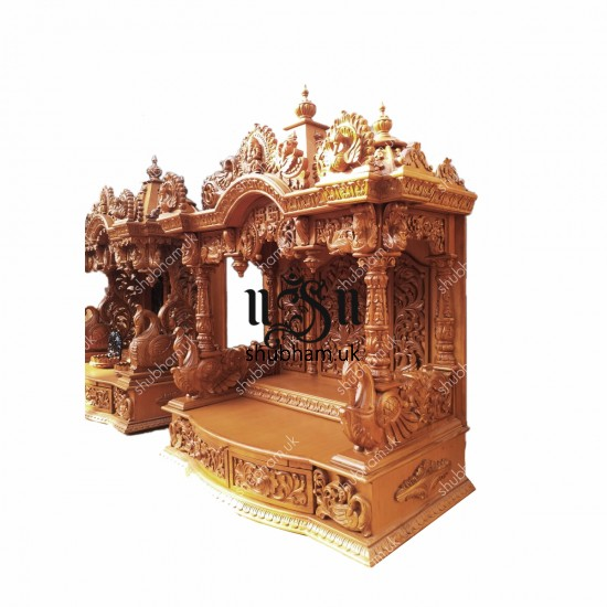 Engraved Beautifully Teak Wood Temple ofr Home in the UK