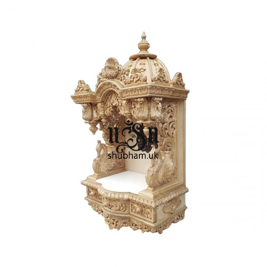 Indian Sevan Wood Pooja Mandir Temple for Home