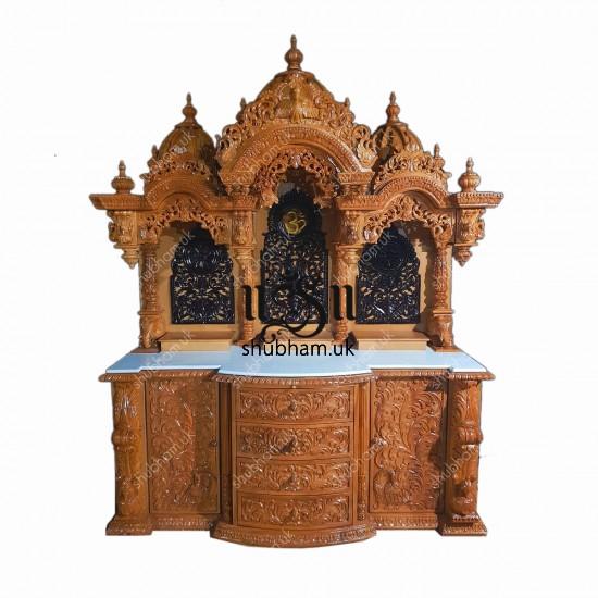 Exquisite Wooden Mandir Temple in the UK