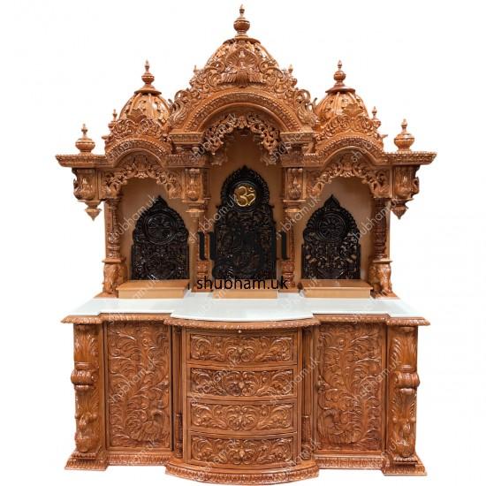 Buy Big Exquisite Wooden Mandir Temple in the UK