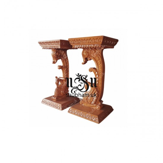 Elegantly Carved Peacock Design High Console Table for Hallway