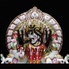 Elegant Crafted Laxmi Mata Seated on Beautiful Sinhasan - 13 inch