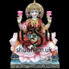 Buy Goddess of Wealth Laxmi Mata White Marble Statue - 15 inch