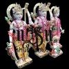 Beautiful Family Ram Darbar Marble Murti UK - 12 inch