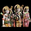 Buy Pure White Marble Ram Darbar Statue UK - 18 inch