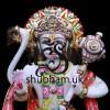 God Hanuman Ji Marble Murti from Pure White Marble - 12 inch