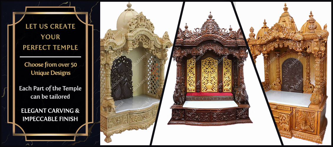 Wooden Carved Mandir in the UK