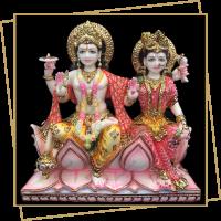 Laxmiji - Vishnuji Marble Murti