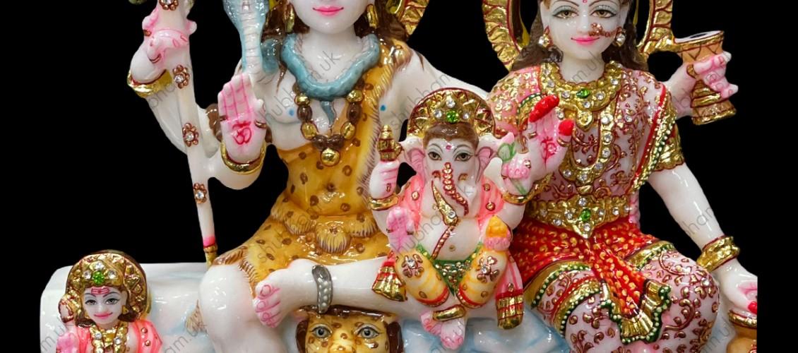 Shiv Parivar Marble Murti